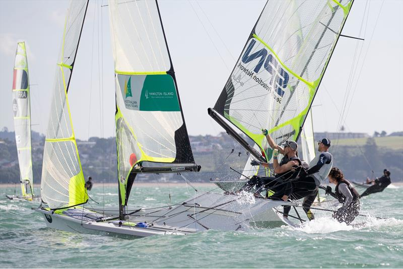 Day 1,  49er World Championships presented by Hyundai - December 3, 2019, Auckland NZ photo copyright Matias Capizzano taken at Royal Akarana Yacht Club and featuring the 49er class