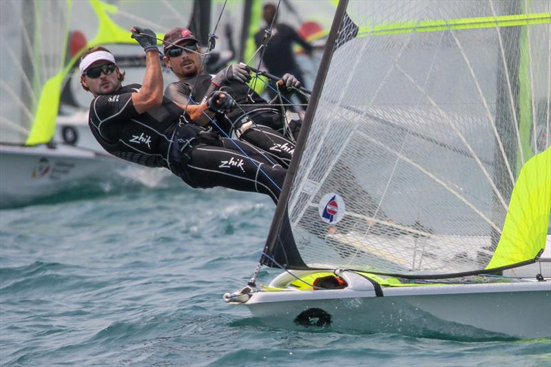 Logan Dunning Beck & Oscar Gunn (NZL) - 49er - 5th place Hyundai Worlds - Day 4, December 6, 2019, Auckland NZ - photo © Richard Gladwell / Sail-World.com\