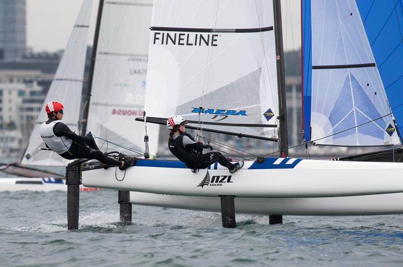 Micah Wilkinson and Erica Dawson - Nacra 17 - Day 4 - 2020 World Championships - Royal Geelong Yacht Club - February 2020 - photo © Bill Phillips
