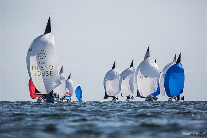 Racing at the 2019 World Championship in Helsinki photo copyright Robert Deaves taken at  and featuring the 5.5m class