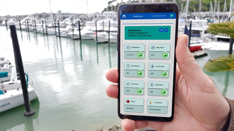 BoatSecure App reports boat status  - photo © BoatSecure