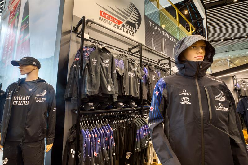 Just landed! New Emirates Team New Zealand supporter range in-store and online now. photo copyright Emirates Team New Zealand Shop taken at Royal New Zealand Yacht Squadron and featuring the  class