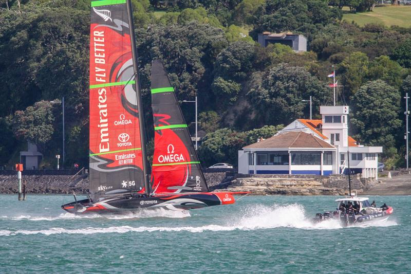 Emirates Team New Zealand - AC75 - Te Aihe - December 11, 2019, Waitemata Harbour - photo © Richard Gladwell / Sail-World.com