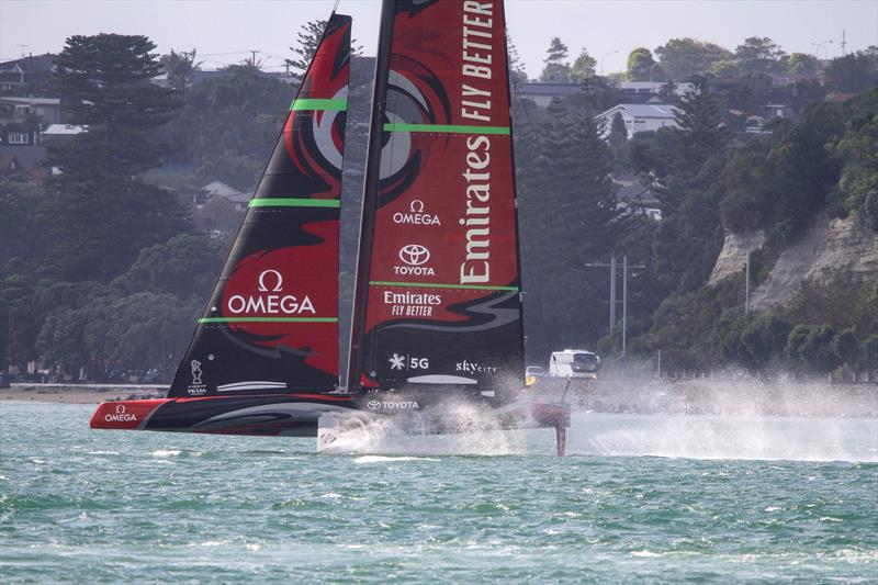 Emirates Team New Zealand's AC75 - January 10, 2020 - photo © Richard Gladwell / Sail-World.com