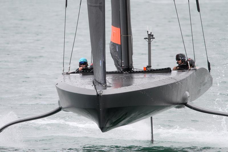Emirates Team New Zealand's test boat training on the Waitemata - March 2020 - photo © Richard Gladwell / Sail-World.com