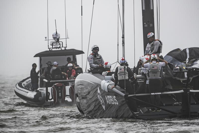 American Magic prepares for a test sailing session - January 2020 - Pensacola, Florida. - photo © Will Ricketson