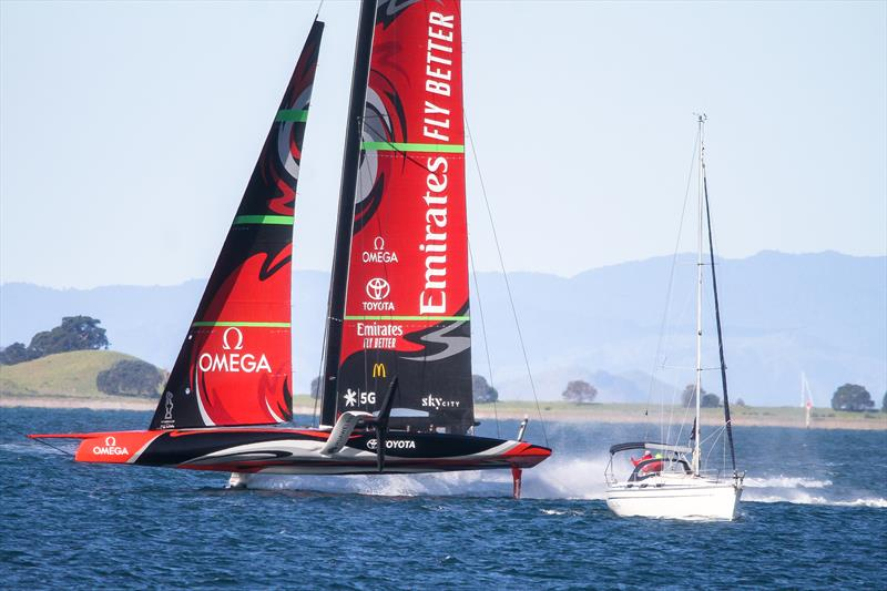 Emirates Team New Zealand - Waitemata Harbour - September 12, 2020 - 36th America's Cup photo copyright Richard Gladwell / Sail-World.com taken at Royal New Zealand Yacht Squadron and featuring the AC75 class