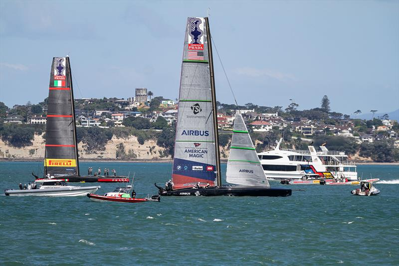Luna Rossa and American Magic - Waitemata Harbour - November 17, 2020 - 36th America's Cup - photo © Richard Gladwell / Sail-World.com