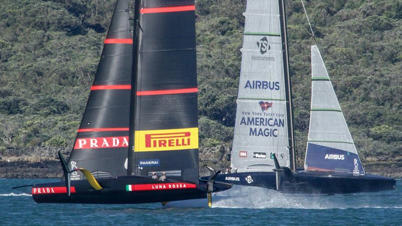 Luna Rossa and American Magic - Waitemata Harbour - January 6, 2020 - 36th America's Cup - photo © Richard Gladwell / Sail-World.com
