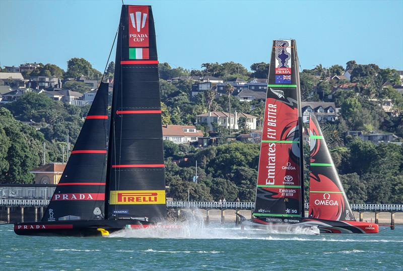 Luna Rossa and Emirates Team NZ - Waitemata Harbour - January 6, 2020 - 36th America's Cup - photo © Richard Gladwell / Sail-World.com