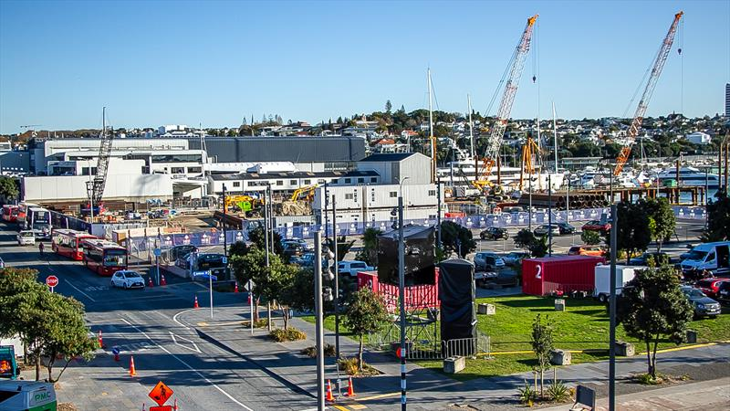 The new Orams superyacht facility under construction in Auckland - May 20, 2020 - photo © Richard Gladwell / Sail-World.com