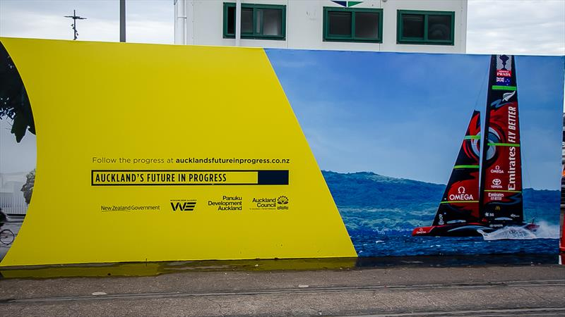 New signage - America's Cup Bases - Auckland - June 16, 2020 - photo © Richard Gladwell / Sail-World.com