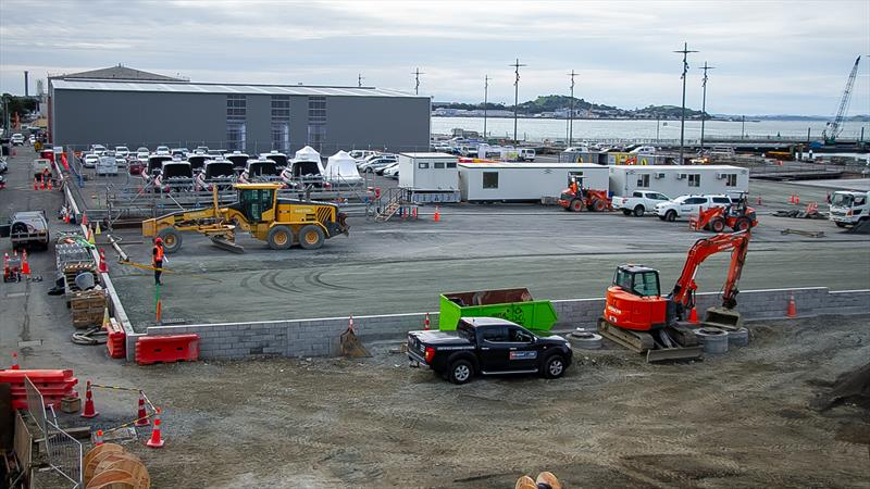 Where is the IBC will be located (foreground) - America's Cup Bases - Auckland - June 16, 2020 - photo © Richard Gladwell / Sail-World.com