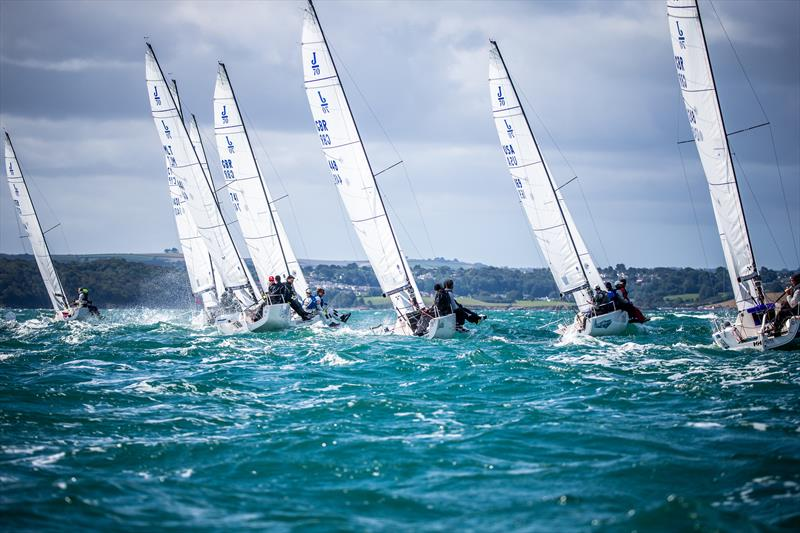 J70 racing at the 2019 Worlds photo copyright Sportography Ltd taken at Royal Torbay Yacht Club and featuring the  class