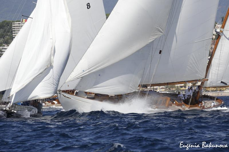 Final day of  Classic Yachts participating in the  Regates Royales Cannes, September 2019.  photo copyright Eugenia Bakunova / www.mainsail.ru taken at Yacht Club de Cannes and featuring the Classic Yachts class