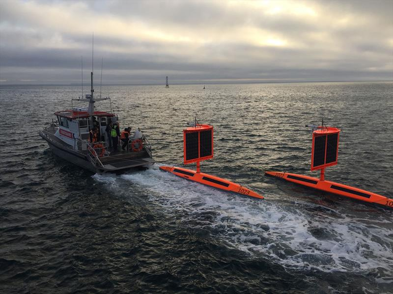 SD 1022 and SD 1023 were redeployed in May 2019 with square wings. - photo © Saildrone