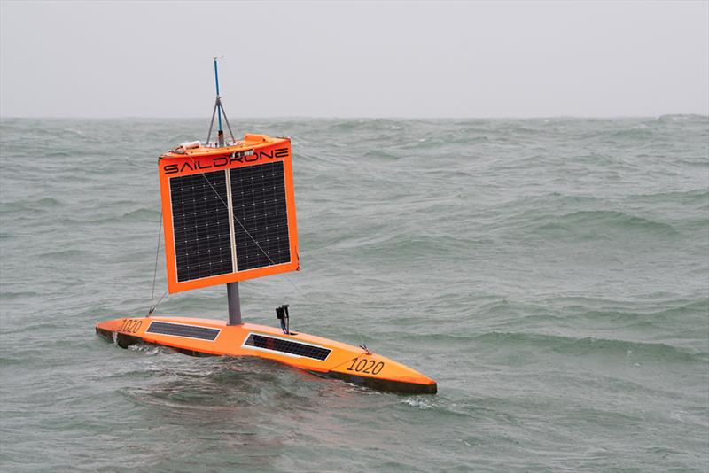 From the top of the wing to the bottom of the keel, saildrones are loaded with science sensors. - photo © Saildrone