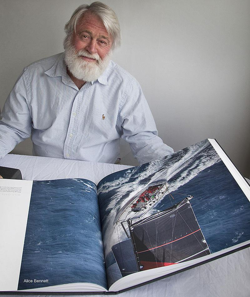 Across Five Decades - Alice Bennet takes this image of her father with his latest accomplishment - what a book. And of course, what a boat - Wild Oats XI... - photo © Alice Bennett