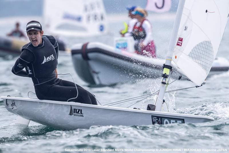 Thomas Saunders (NZL) - Day 6, World Laser Championship, Sakaiminato, Japan July 2019 - photo © Junichi Hirai