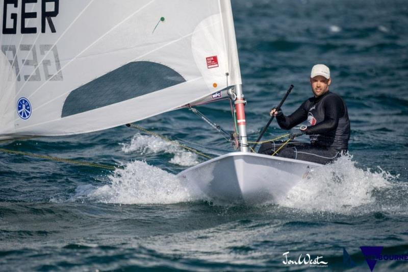 Philipp Buhl (GER) scored two bullets on day two of the ILCA Laser Standard World Championship in Melbourne - photo © Jon West Photography