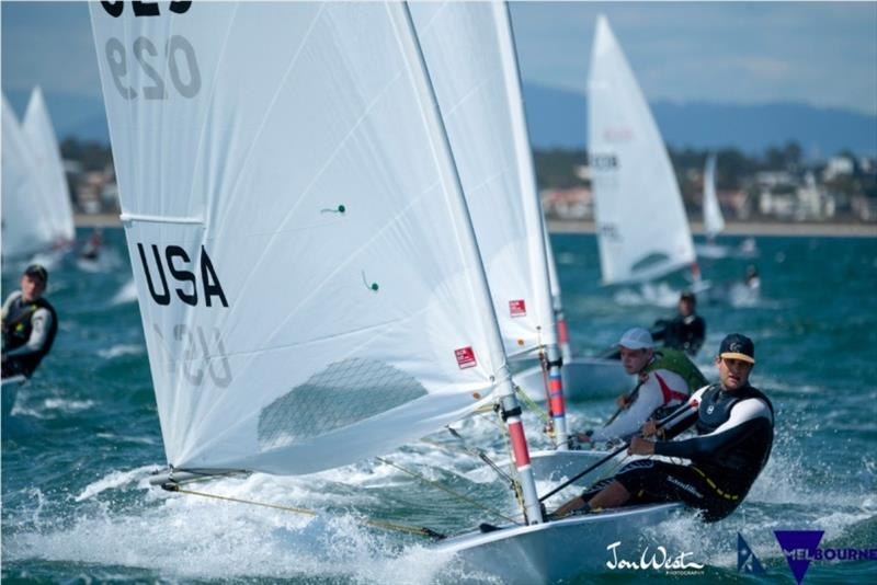 Chris Barnard at the 2020 ILCA Men's Laser Standard World Championships - photo © Jon West Photography