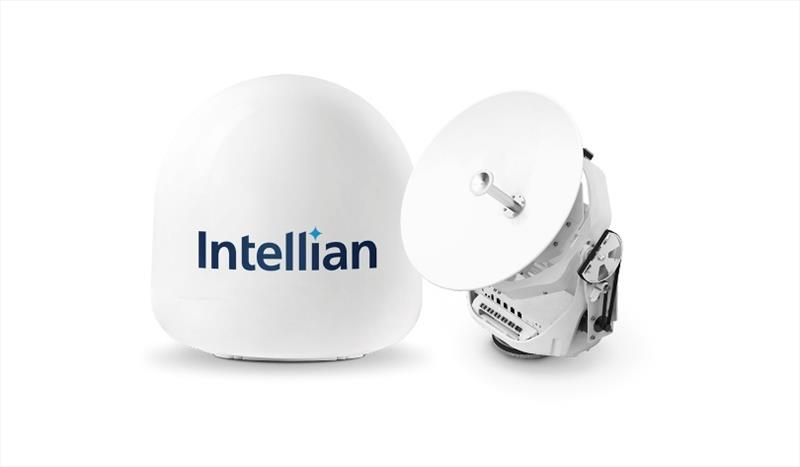 Intellian's innovative v45C antenna is now qualified for operation on the Intelsat FlexMaritime network photo copyright Intellian Ltd taken at  and featuring the Marine Industry class