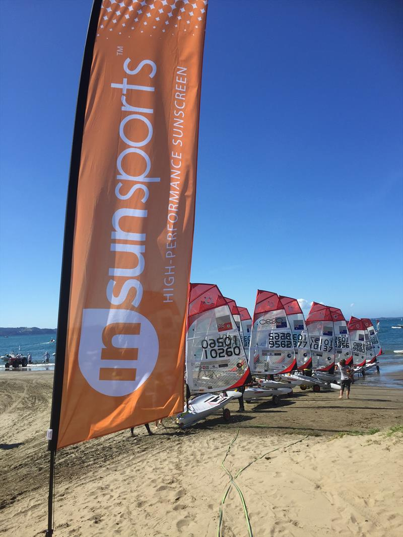 InSunSports is one of the sponsors of the O'Pen BIC Worlds at Manly SC photo copyright Mark Killip taken at Manly Sailing Club