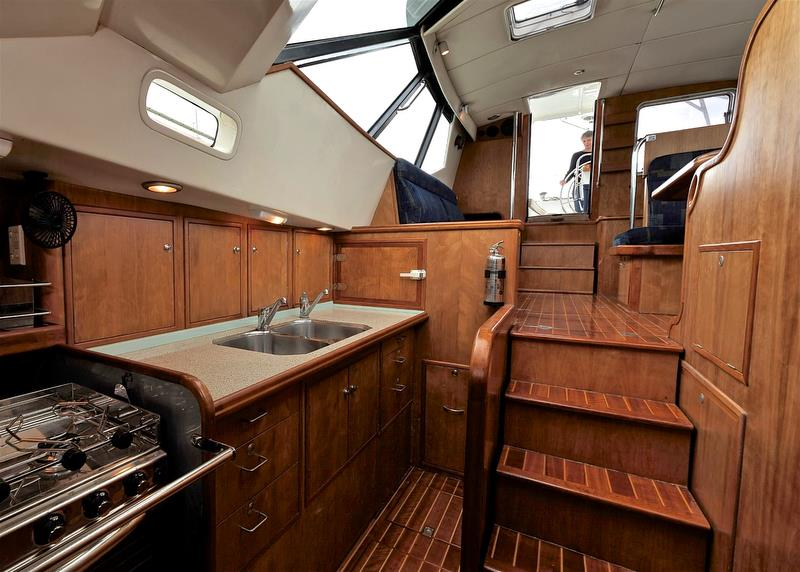 SV Silver Fern - galley looking aft. photo copyright Martha Mason taken at