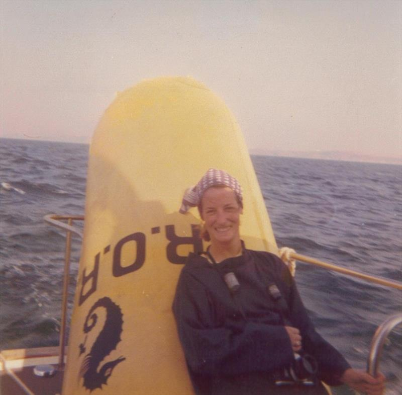 Janet Grosvenor - Out mark laying for the 3/4 Ton Cup in 1976 photo copyright RORC taken at Royal Ocean Racing Club
