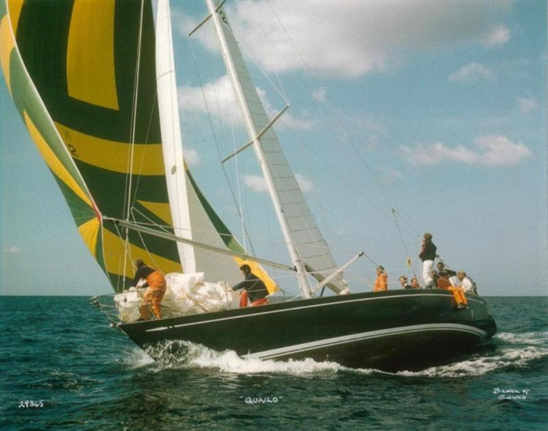 Janet Grosvenor (on the foredeck) qualified for RORC membership in 1978 on board Don Parr's yacht Quailo photo copyright Beken of Cowes taken at Royal Ocean Racing Club