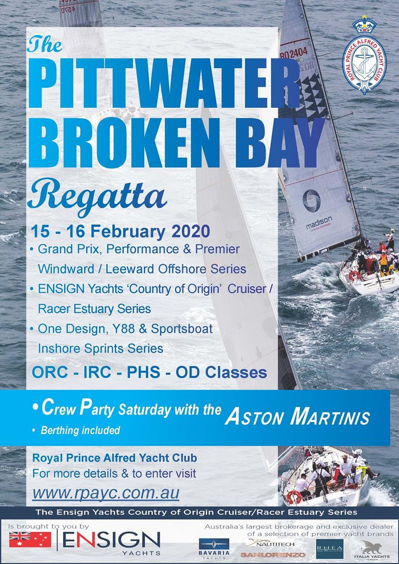 Pittwater Regatta poster photo copyright Brendan Rourke taken at Royal Prince Alfred Yacht Club