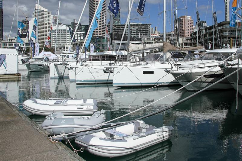 All, big and small on the marina - Auckland On the Water Boat Show - Final day - October 6, 2019 - photo © Richard Gladwell