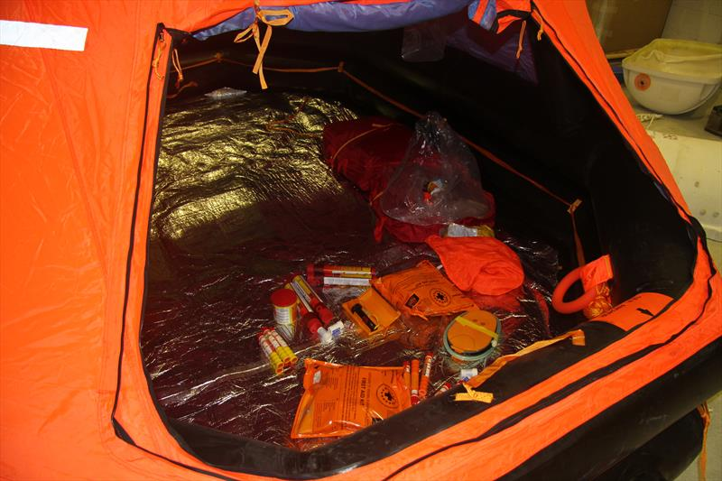 Ocean Safety Life Raft pack contents - photo © Mark Jardine