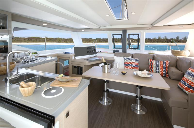 The spacious, light filled saloon of the Lucia 40 - photo © Ownsahip