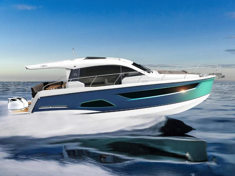 Sealine launches new Sealine 390v photo copyright HanseYachts taken at  and featuring the Power boat class