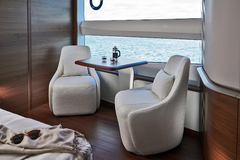 Princess X95 master stateroom photo copyright Princess Yachts taken at  and featuring the Power boat class