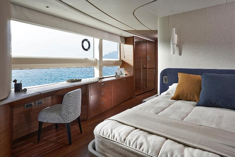 Princess X95 master stateroom dressing area photo copyright Princess Yachts taken at  and featuring the Power boat class