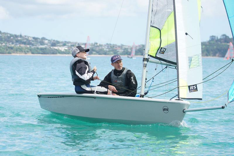 Simon and Ashton Cooke - North Island RS Feva Championships at Manly SC, October 2019 photo copyright NZ Sailcraft taken at Manly Sailing Club and featuring the RS Feva class