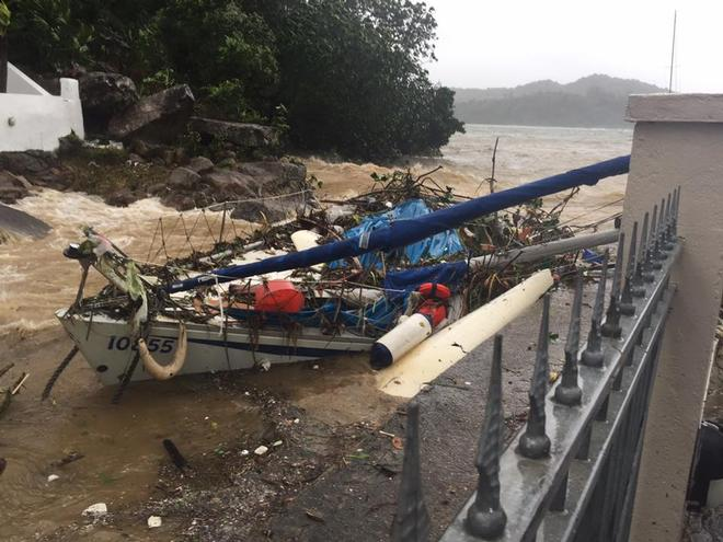 Pak Sha Wan, the aftermath of Typhoon Hato © Steve Pheby