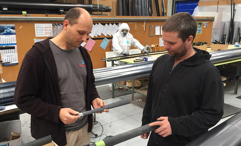 C-Tech designer Shayne Young and Composite Technician Michael Rhodes © Chris Kitchen
