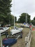 Competitors rigging at the Portchester Solo Open