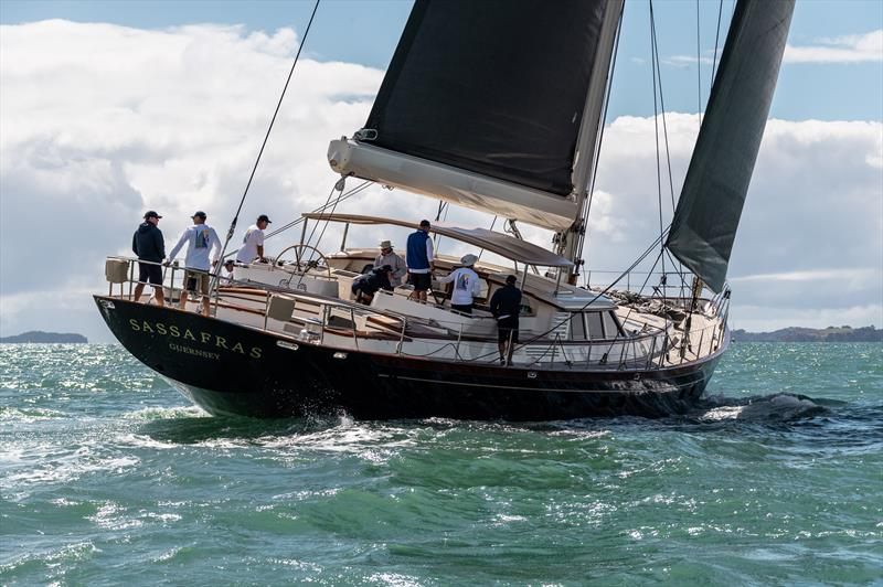 Day 4 - Mastercard Superyacht Regatta - February 27, 2021 - Royal New Zealand Yacht Squadron photo copyright Jeff Brown taken at Royal New Zealand Yacht Squadron and featuring the Superyacht class