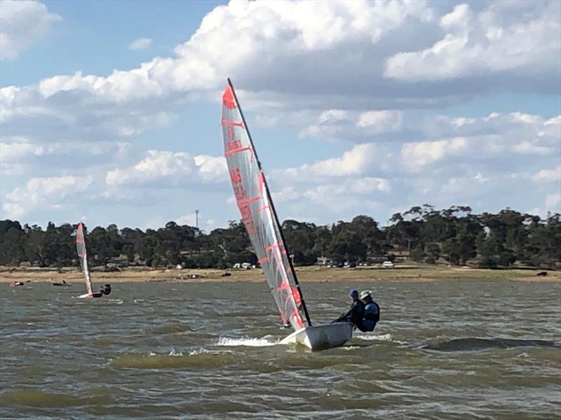 Runners-up Mark and Oliver Bulka in the Victorian Tasar State Championship 2020 photo copyright Craig Ginnivan taken at Cairn Curran Sailing Club and featuring the Tasar class