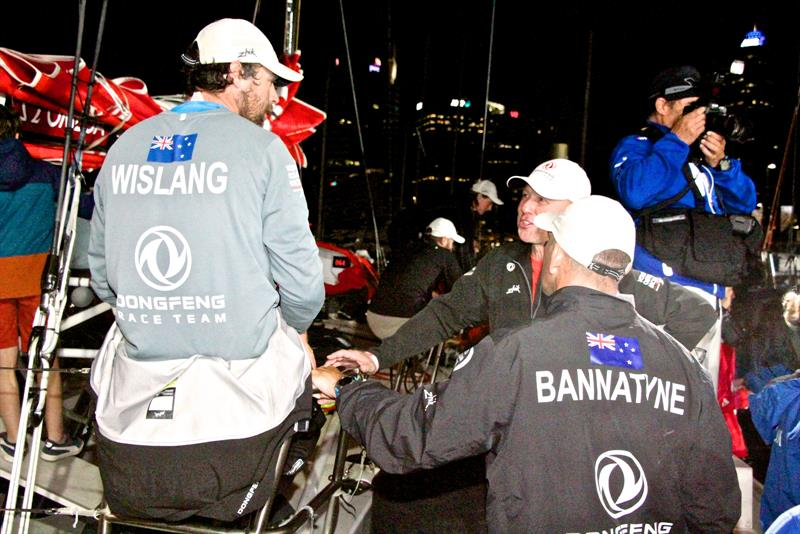 Daniel Wislang and Stu Bannatyne debrief dockside - Volvo Ocean Race - Auckland Stopover after Leg 6 Finish, Auckland, February 28, - photo © Richard Gladwell