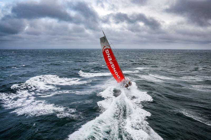 Dongfeng - Leg 11, from Gothenburg to The Hague, day 03. Heli LIVE as the fleet blast south, eyes set on The Hague. 23 June, . - photo © Ainhoa Sanchez / Volvo Ocean Race