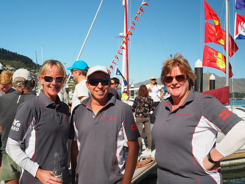 2018 Knight Frank Young 88 South Island Championship - Dockside debrief courtesy sponsors - photo © Andrew Herriot