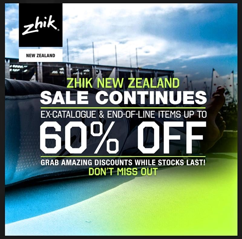 Two days left in Zhik sale - buy online or instore - photo © Zhik